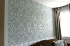 The Sweet Survival: My Faux Wallpaper Accent Wall Tutorial