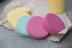 Rose Petal in foreground with pale turquoise and mustard behind - Zero waste party tins for a 6 year-old's birthday 6 Year Old, Rose Petals, Tins, Zero Waste, Chalk Paint, Mustard, Turquoise, Studio, Birthday