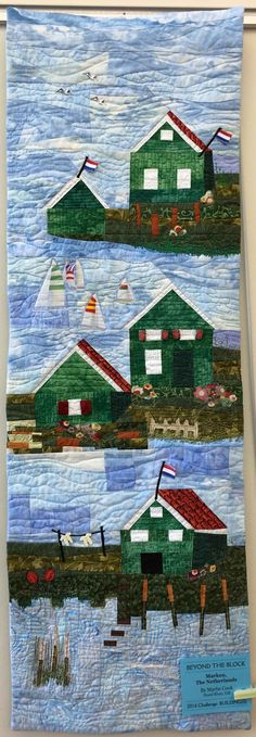 Marken, The Netherlands by Marbe Cook.  Photo by Cat Patches: A Quilty Outing