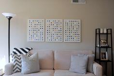 DIY Dot Canvases |