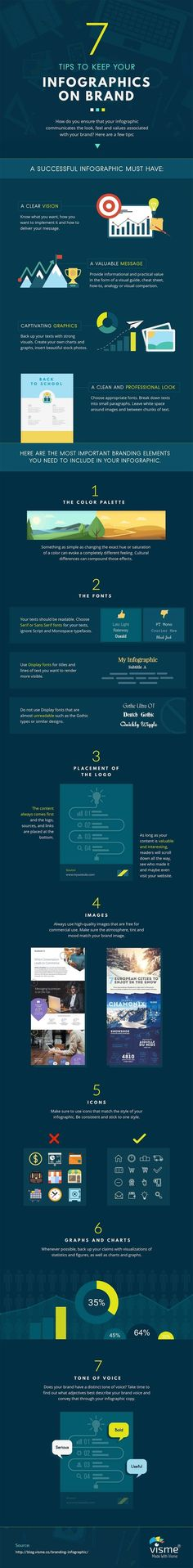 Business infographic : 7 Ways to Keep Your Infographics On Brand  #infographic