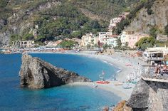 Monterosso al Mare, Cinque Terra, Italy.  I have one of the funniest (and most embarrassing) travel stories ever from this town.