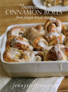 """""""Homemade"""" Cinnamon Rolls  from frozen bread dough   There is nothing quite like homemade cinnamon rolls. My mom is fa..."""