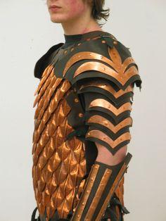 pangolin armour made of the scales of a pangolin similar to an