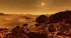 Mars Avec un éloignement du Soleil compris entre 206 et 249 millions de kilomètres, Mars possède une vision de notre étoile légèrement plus petite que la nôtre. Elle est 10 fois moins massive que la Terre et 10 fois plus massive que la Lune
