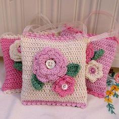 Crochet Lavender Pillow/Bag