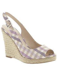 purple plaid espadrilles. Franco Sarto brand. $79