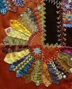 I ❤ crazy quilting . . . Crazy Quilt by Robyne Melia is Bobby La.