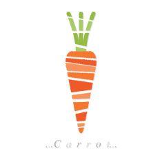 Vector of vegetable, carrot icon vector art illustration