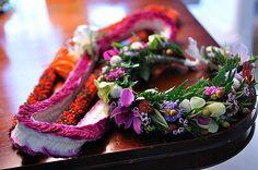 Beautiful hawaiian leis