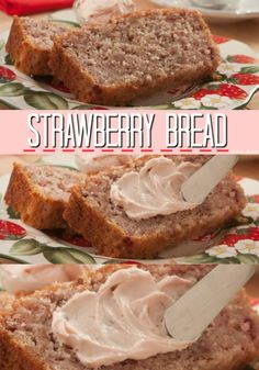 We bake lots of tasty strawberries right into this homemade bread!