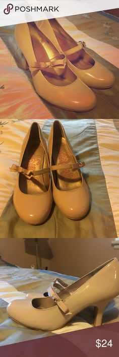 Nude jelly pop pumps size 8.5 Perfect pair of Mary Jane nude pumps size 8.5. Literally worn only a couple of hours. Shoes Heels