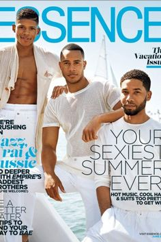 Books : ESSENCE (duh) Of course you can't forget to pick up a copy of ESSENCE Magazine's June issue featuring our sexy cover guys Jussie Smollett, Trai Byers and Bryshere Gray. We're adding a little extra heat to your summmer (you're welcome!)