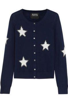 Star-intarsia merino wool cardigan #cardigan #covetme #markuslupfer