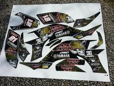 Yamaha YFZ 450 metal mulisha atv graphics. Kit by Fireblade Graphics and Signs. Look us up on Facebook