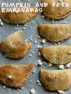 Pumpkin and feta empanadas, tried this, too much work for something that tasted quite boring..