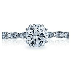 Tacori Sculpted Crescent 572RD Pave Engagement Ring