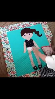 Dress up doll blankets with velcro clothes