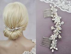 Braut Haarschmuck Kamm & echte Perlen von MimiPrincess auf Etsy
