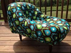 """This Lavish Loungers is made from an """"upcycled expired car seat"""" using a thick canvas fabric (chocolate/green/white fabric), its washable and very durable. Can only be spot washed as the material is attached to the lounger. It's perfect for a small dog/cat bed or the perfect little Lounger for a Toddler or Child!  Price $150.00.  if you would like it shipped, please contact me for shipping costs."""