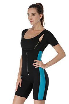 7c955049a NonEcho Sauna Full Body Shaper Sweat Bodysuit Sleeve Shapewear Slimming  Suit Weight Loss GYM Sport Aerobic