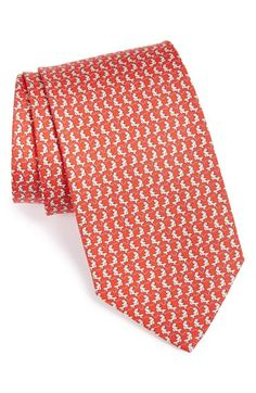 Men's Salvatore Ferragamo Fish Print Silk Tie