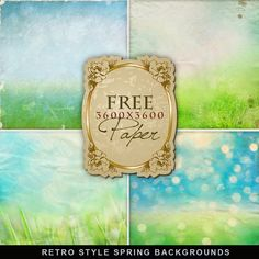Far Far Hill: Freebies Retro Style Backgrounds