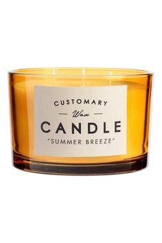 Ароматическая свеча в стекле: Большая ароматическая свеча в стеклянном подсвечнике. Три фитиля. Высота 8 см, диаметр 12 см. Время горения 35 часов.