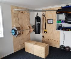 Functional Corner Home Gym #HomeGyms
