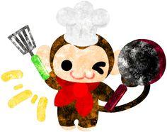 フリーのイラスト素材コックの姿をした可愛いお猿さん Free Illustration The pretty little monkey which does the figure of the chef   http://ift.tt/29LqZsD