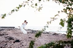 Such a cute shot of a these newlyweds sharing a moment together during their Maui wedding day. Photographed by Mike Sidney Photography / www.mikesidney.com