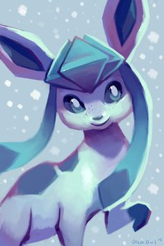Glaceon by OrcaOwl.deviantart.com on @DeviantArt