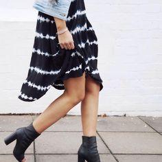 All tied up in our best-selling 'Zaya' dress + the must-have denim jacket this season 'Dustine' // online & in-stores now  #decjubaloves #tiedye #denim #spring #decjubaclothing
