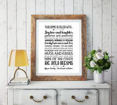 Instant Download - Personalized Family Quote - Family Wall Art - Family Rules - Family Printable - Family Print - Wall Art Printable