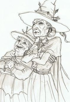 Granny Weatherwax and Nanny Og by mooij