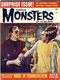 "Museum of Modern Mythology and Pop Culture Magazine: ""Famous Monsters of Filmland."" #21; 1963."