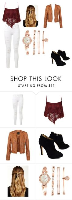 """""""night out"""" by adriana03182003 ❤ liked on Polyvore featuring Frame Denim, Giuseppe Zanotti, Natasha Accessories and Anne Klein"""