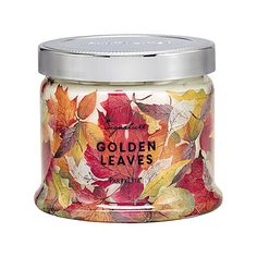 Golden Leaves 3-Wick Jar Candle - 2 for £34.50!