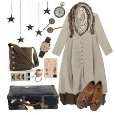 Rusting stars by forestsandtea on Polyvore featuring Cabbages & Roses, Acne Studios, HUGO, Gaynor, Miss Selfridge, mori, shabbychic, MoriGirl, morikei and moriinspired
