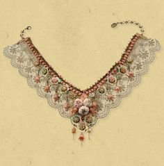 Magnificent Lace Necklace | Michal Negrin #victorian #vintage
