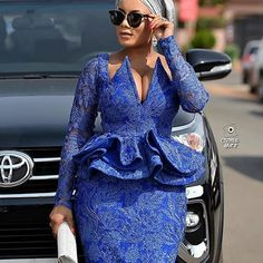 The liberty to design your own style is the most unique feature of African fashion. African Fashion Ankara, Latest African Fashion Dresses, African Print Fashion, Africa Fashion, African Lace Styles, African Lace Dresses, African Attire, African Wear, Lace Gown Styles
