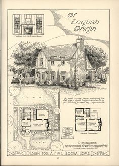 Most design ideas art deco floor plans pictures, and inspira Cottage Floor Plans, Cottage Plan, House Floor Plans, The Sims, Sims 4, Sims House Plans, Small House Plans, Tudor Style Homes, Vintage House Plans