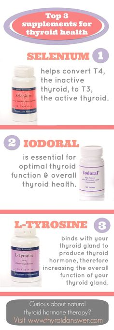 Top 3 Supplements for Thyroid Health.  Be careful if you have Hashimoto's though --iodoral can make it worse