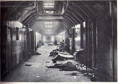 Terror deed by the Red guards of Finland in the district prison of Viipuri, Finland (now Vyborg, Russia). Punaisten suorittama terroriteko Viipurin lääninvankilassa.