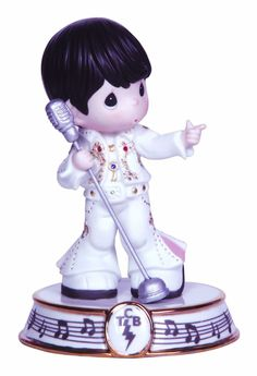 Precious Moments Elvis Presley Takin Care of Business Figurine #123029