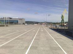 Aaltvedt Brickloc levert Havneterminalen i Larvik  http://www.aaltvedt.no/produkter/prosjektstein/maskinleggbar-belegningsstein