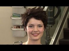 How to style short hair. More tutorials at http://pinterest.com/hairproduct/how-to-style-short-hair/
