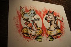 The Simpsons // Itchy & Scratchy inspired flash by BosWorkshop