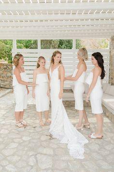 A true celebration of love on the off-the-beaten-track Folegandros Island Lace Wedding, Wedding Dresses, Celebrities, Fashion, Bride Dresses, Moda, Bridal Gowns, Celebs, Fashion Styles