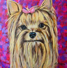 Pintura Yorkshire Terrier - Carol Wang Art  www.facebook.com/carolinawangpage